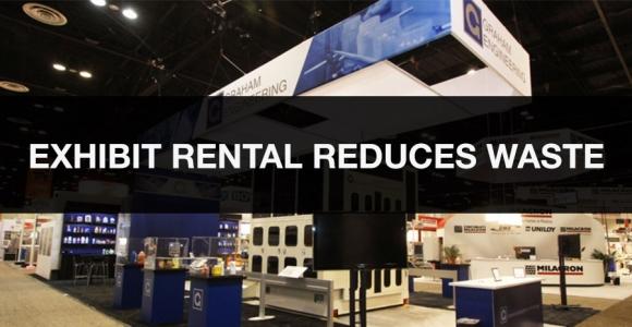 exhibit rental reduces waste
